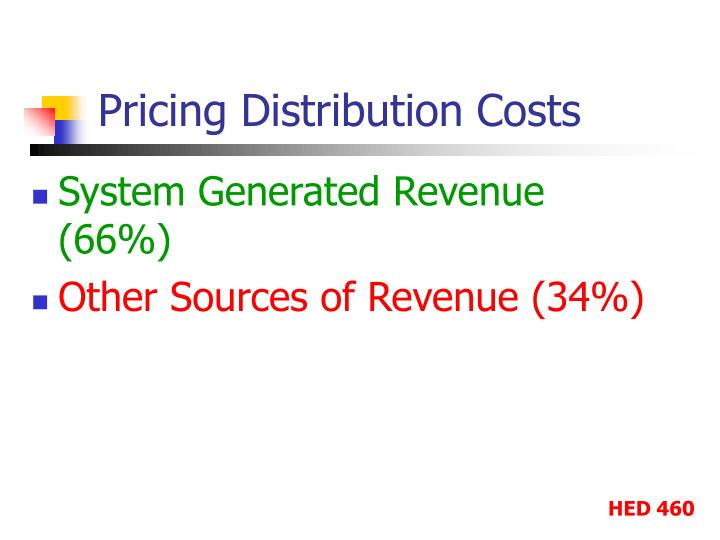 pricing distribution costs n.