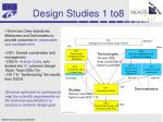 design studies 1 to8