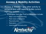 access mobility activities
