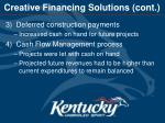 creative financing solutions cont