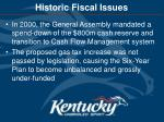 historic fiscal issues