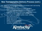 new transportation delivery process cont