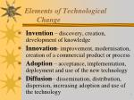 elements of technological change