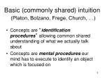basic commonly shared intuition platon bolzano frege church