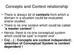 concepts and context relationship