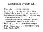 conceptual system cs