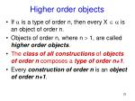 higher order objects