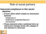 role of social partners