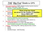 the big five goals for gps