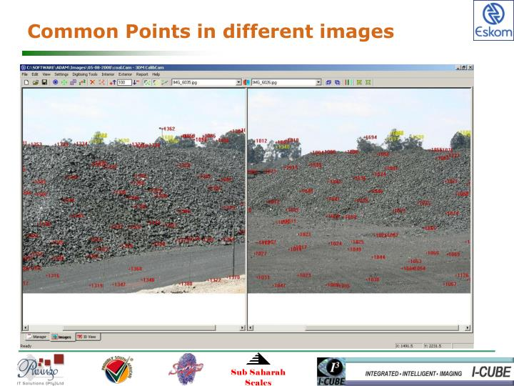 Common Points in different images