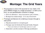 montage the grid years