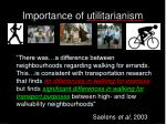 importance of utilitarianism