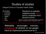 studies of studies