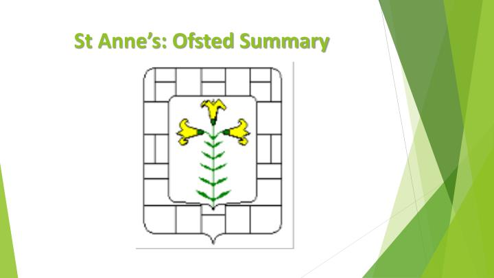 st anne s ofsted summary n.