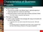 characteristics of business projects1