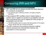 comparing irr and npv