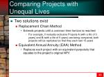 comparing projects with unequal lives1