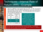 techniques internal rate of return irr example1