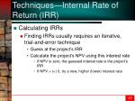 techniques internal rate of return irr3