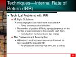 techniques internal rate of return irr4