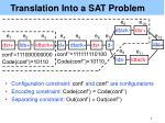 translation into a sat problem