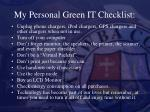 my personal green it checklist
