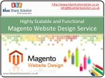 highly scalable and functional magento website design service