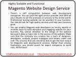 highly scalable and functional magento website design service4