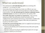 what we understand