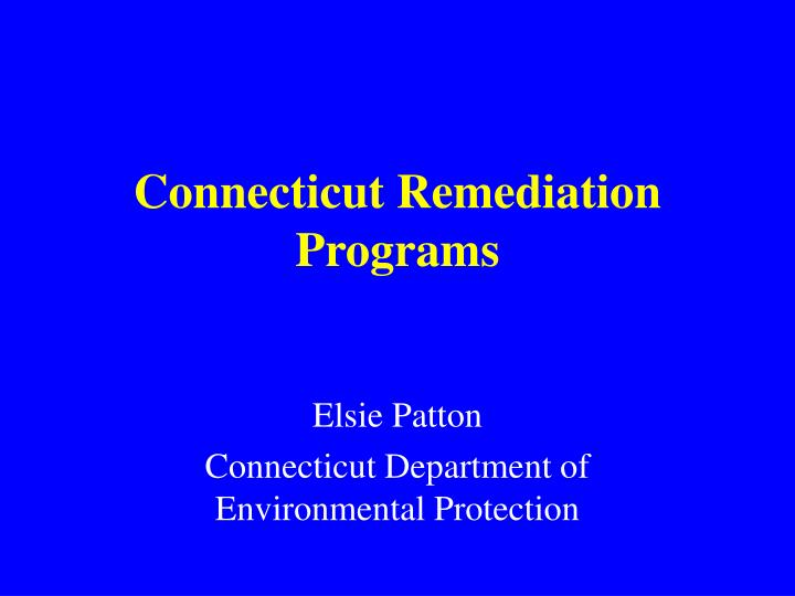 connecticut remediation programs n.