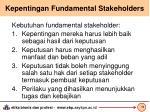 kepentingan fundamental stakeholders