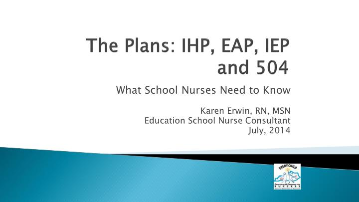 the plans ihp eap iep and 504 n.