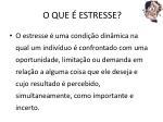 o que estresse