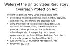 waters of the united states regulatory overreach protection act