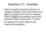 question 2 c example