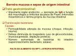 barreira mucosa e sepse de origem intestinal