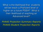 pvaas projection summary reports pvaas student projection reports