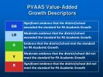 pvaas value added growth descriptors