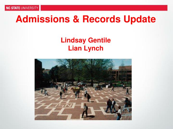 admissions records update lindsay gentile lian lynch n.