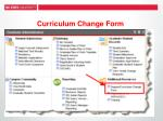 curriculum change form