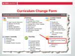 curriculum change form