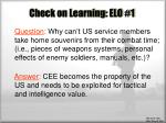 check on learning elo 1