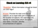 check on learning elo 42