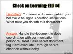 check on learning elo 43