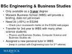 bsc engineering business studies