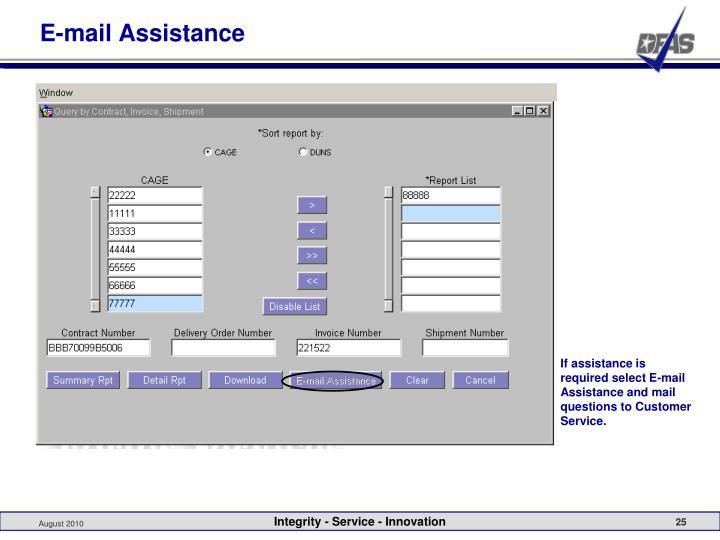 E-mail Assistance