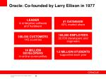 oracle co founded by larry ellison in 1977