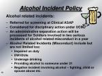 alcohol incident policy