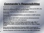 commander s responsibilities