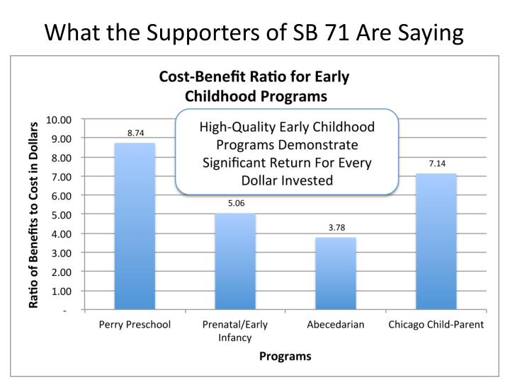 what the supporters of sb 71 are saying n.